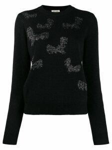 Saint Laurent bat sweater - Black