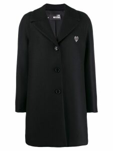 Love Moschino classic single-breasted coat - Black