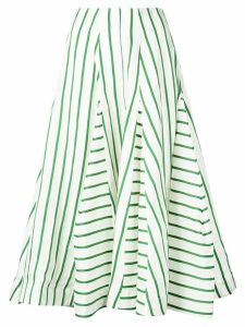 Rosie Assoulin flouncy striped skirt - Green