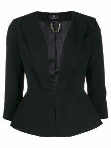 Elisabetta Franchi fitted peplum blazer - Black