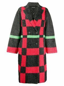 Emporio Armani fantasy button coat - Red