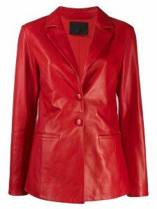 Drome leather blazer - Red