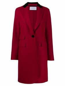 Harris Wharf London single breasted coat - Red
