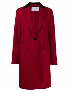 Harris Wharf London single breasted coat - Red