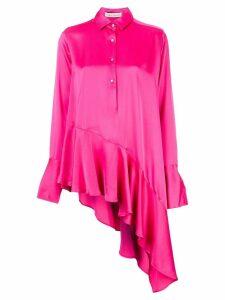Palmer / Harding asymmetric ruffled blouse - Pink