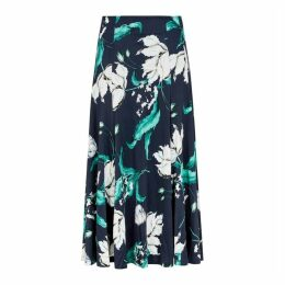 Erdem Vesper Floral-print Midi Skirt