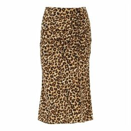 Veronica Beard Vanity Leopard-print Stretch-silk Midi Skirt