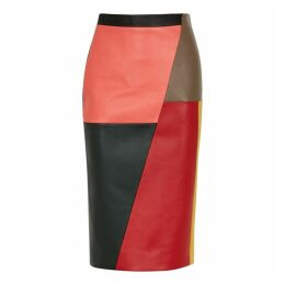 Eudon Choi Raoul Patchwork Leather Skirt