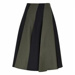 Eudon Choi Abbear Panelled Wool Midi Skirt