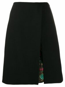 Etro A-line skirt with front slit - Black