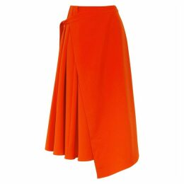 Maggie Marilyn Lady Danger Red Cady Midi Skirt