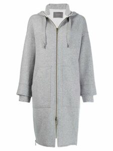 Lorena Antoniazzi hooded coat - Grey