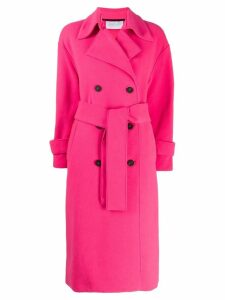 Harris Wharf London double-breasted fitted coat - Pink