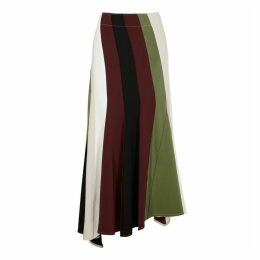 JW Anderson Asymmetric Striped Panel Midi Skirt