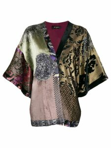 Etro patchwork kimono - Purple