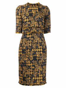 Dolce & Gabbana tweed pencil dress - Yellow