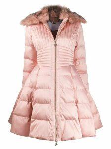 Elisabetta Franchi fur collar padded parka - Pink