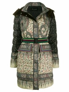 Etro padded paisley coat - Green