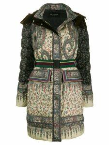 Etro padded paisley coat - Green