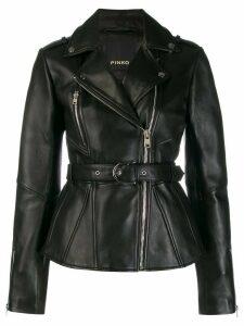 Pinko oversized biker jacket - Black