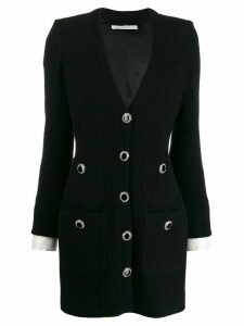 Alessandra Rich blazer-style mini dress - Black