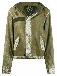 Mr & Mrs Italy coated hooded jacket - Green