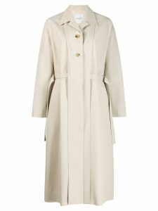 Le 17 Septembre belted single breasted coat - Neutrals
