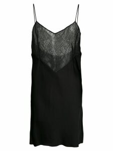 Marina Moscone lace detail top - Black