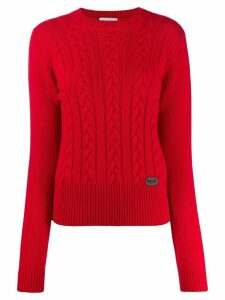 be blumarine cable knit jumper - Red