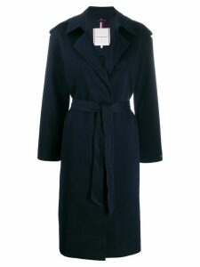 Tommy Hilfiger belted long coat - Blue