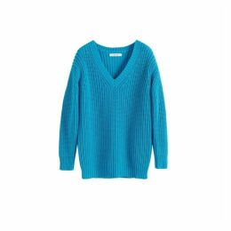 Chinti & Parker Blue Le Soir V Neck Sweater
