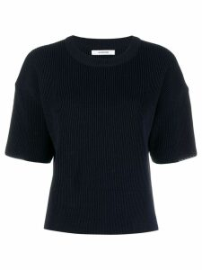 Le 17 Septembre ribbed knit T-shirt - Blue