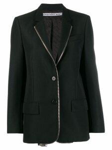 Alexander Wang zip detail blazer - Black
