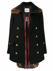 Bazar Deluxe double buttoned coat - Black