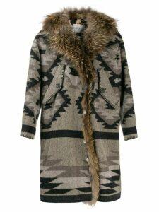 Bazar Deluxe aztec coat - Grey