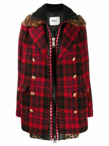 Bazar Deluxe zipped tartan coat - Blue