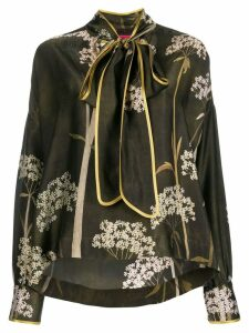 F.R.S For Restless Sleepers printed scarf neck blouse - Green