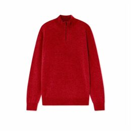 Hackett Knitwear Wool Cash Mix Hzip