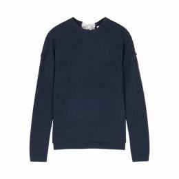 Duffy Navy Fine-knit Cashmere Jumper