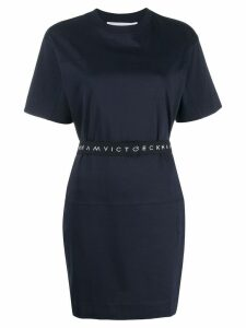 Victoria Victoria Beckham logo waistband dress - Blue