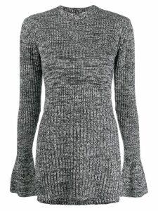 Victoria Victoria Beckham two tone knit jumper - Grey