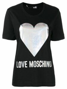 Love Moschino heart print T-shirt - Black