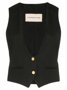 Alexandre Vauthier collarless button-down waistcoat - Black
