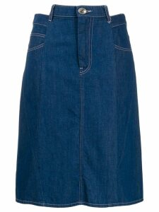 Maison Margiela Décortiqué denim skirt - Blue