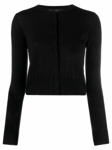 Paule Ka round neck cardigan - Black
