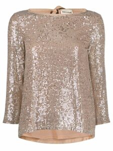 Semicouture sequin top - Neutrals