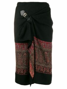 Etro paisley print wrap skirt - Black