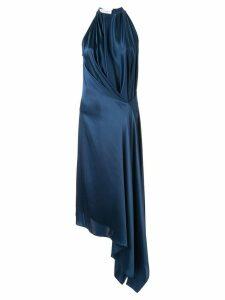 Bianca Spender Isabella draped midi dress - Blue
