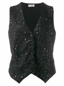 Brunello Cucinelli sequinned waistcoat - Black