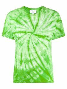 Collina Strada pierced tie dye T-shirt - Green
